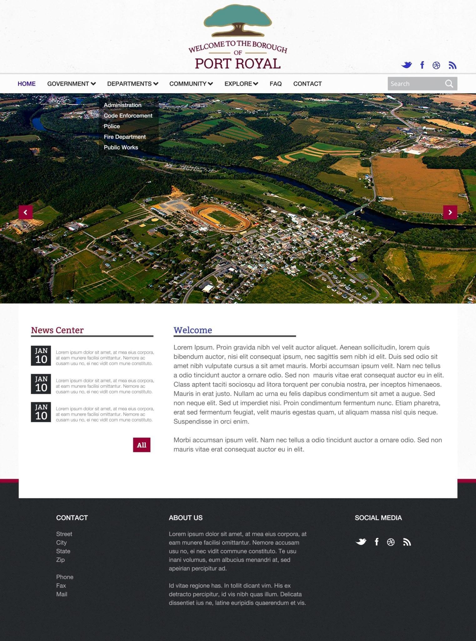 borough website design